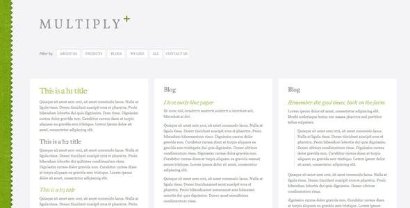 Multiply - Blog and Portfolio HTML/CSS Templates