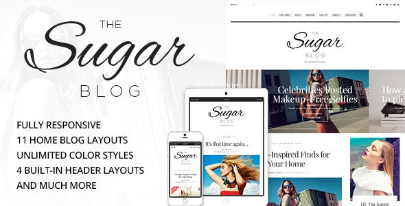Sugar - Clean & Personal WordPress Blog Theme - Personal Blog / Magazine