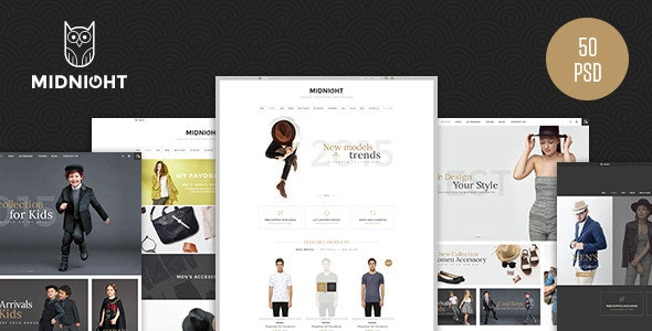 MidNight - Fashion eCommerce PSD Template - Fashion Retail