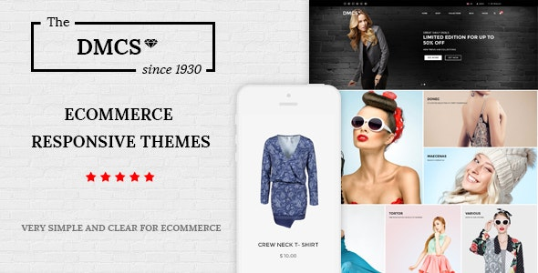 The DMCS - Ecommerce HTML Responsive Template - Retail Site Templates