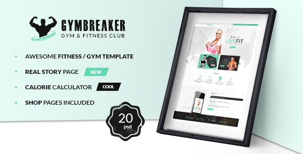 GymBreaker - Fitness PSD Template - Health & Beauty Retail