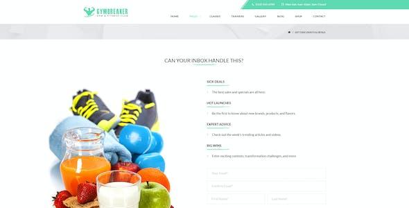 GymBreaker - Fitness PSD Template
