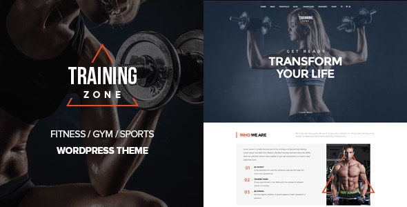 Training Zone - Gym & Fitness WordPress Theme - Health & Beauty Retail
