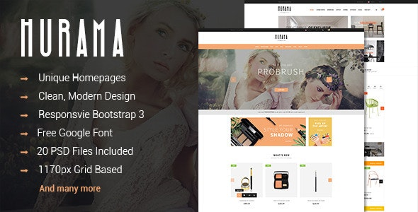 Hurama - Multipurpose eCommerce PSD Theme  - Retail Photoshop