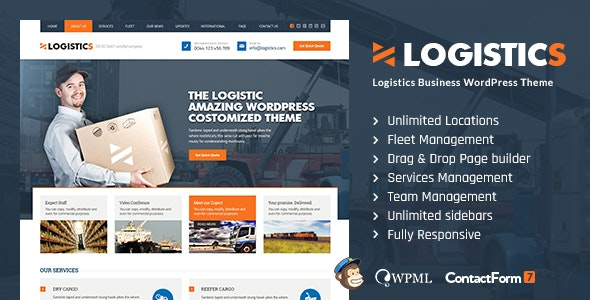 Logistics | Transportation  Warehousing WP Theme - Business Corporate