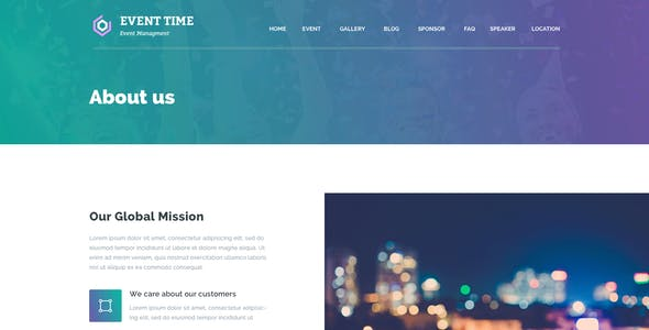 Event Time - Conference & Event HTML Template