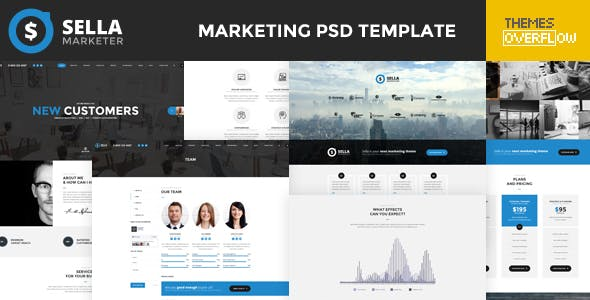 Sella - Marketing PSD Template