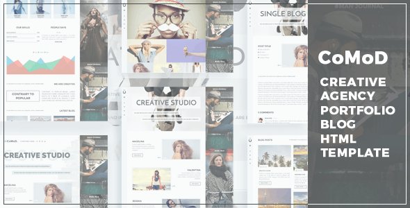 CoMoD - Creative Agency / Portfolio HTML Template - Creative Site Templates