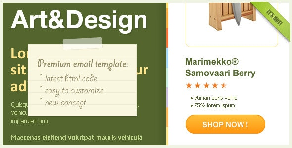 Art&Design - Horizontal Email Template - Newsletters Email Templates