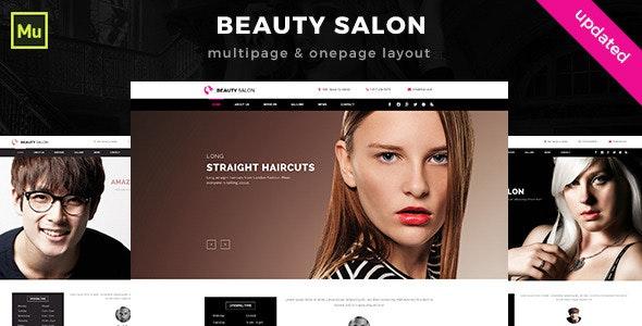 Beauty Salon Muse Template  - Muse Templates