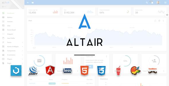 Altair - Admin Material Design UIkit Template - Admin Templates Site Templates