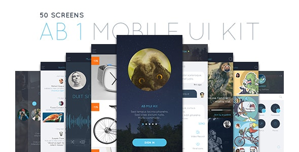 AB Part 1 - Mobile UI Kit - Sketch UI Templates