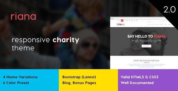 Riana Charity HTML Template