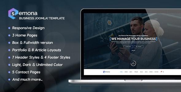 Semona - Business Joomla Template - Business Corporate