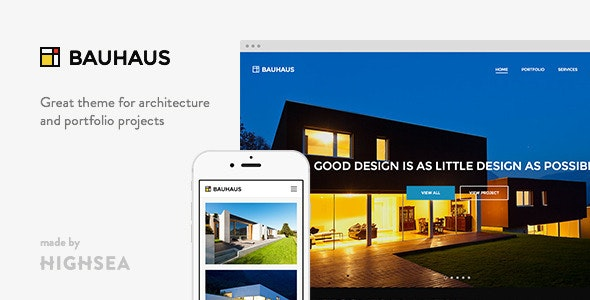 Bauhaus - Architecture & Portfolio WordPress Theme - Business Corporate
