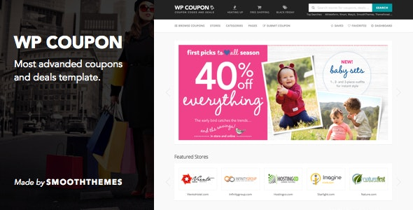 WP Coupon - Coupon, Discount & Deal Template by SmoothThemes