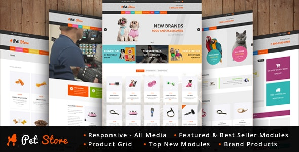 Pet Store - WordPress WooCommerce Theme - WooCommerce eCommerce