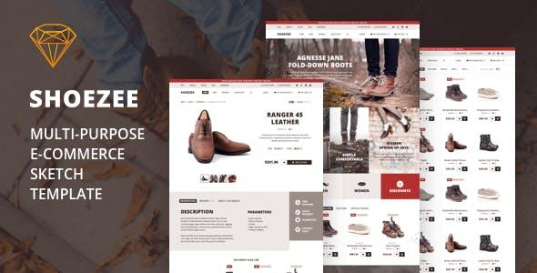 Shoezee - Multipurpose Ecommerce Sketch Template
