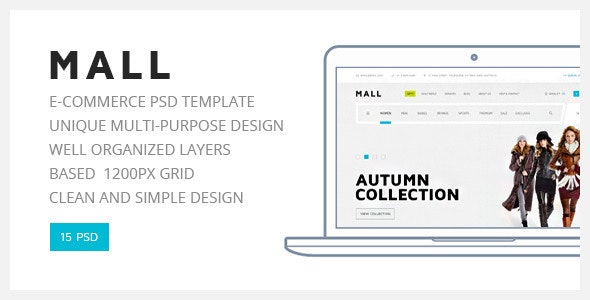 Mall — Multipurpose eCommerce PSD Template - Shopping Retail