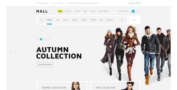Mall — Multipurpose eCommerce PSD Template