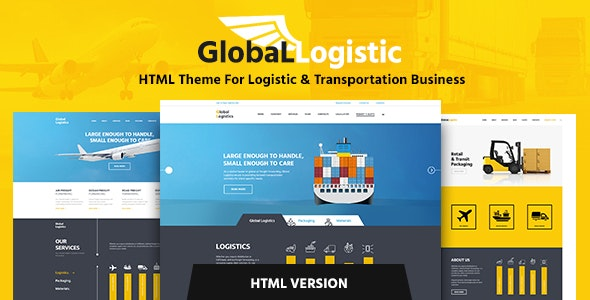 Global Logistics - Transportation HTML Template - Business Corporate