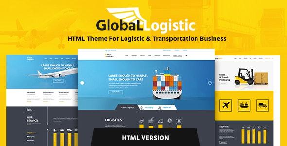 Global Logistics - Transportation HTML Template - Business Corporate
