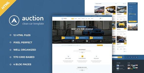 Auction - Car Dealer & Mechanic HTML Template