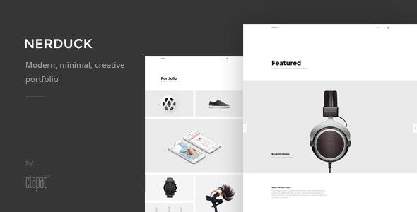 Nerduck - Minimal and Creative Portfolio Theme - Portfolio Creative