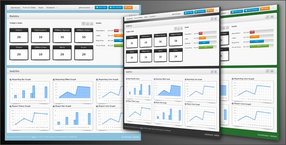 NeueAdmin II - Marketing Dashboard - Admin Templates Site Templates