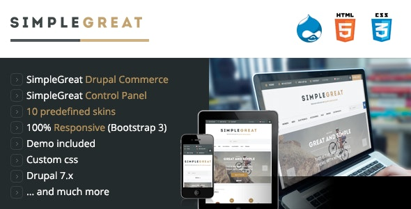 SimpleGreat - Drupal Commerce 7.6 Theme - Shopping Retail