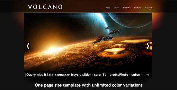 Volcano Single Page HTML Template - Portfolio Creative