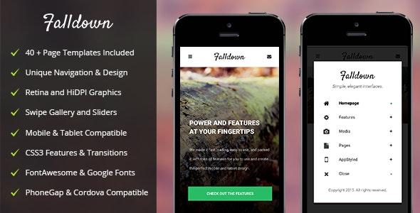 FallDown Mobile - Mobile Site Templates