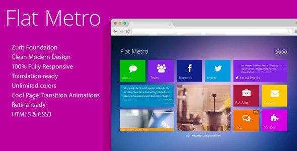 Flat Metro - Responsive HTML5 Theme  - Creative Site Templates