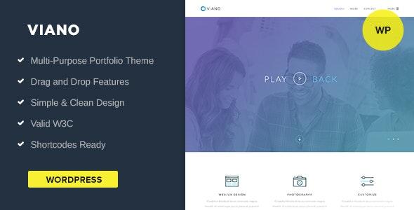 Portfolio WordPress Theme   Viano - Corporate WordPress