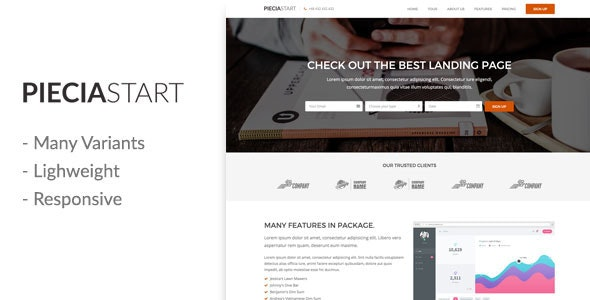 Piecia - Creative Template - Creative Landing Pages