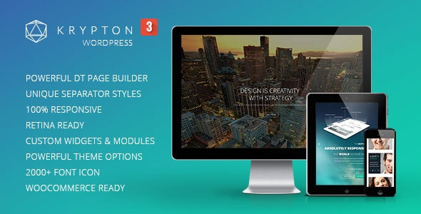 Krypton - Responsive Multipurpose WordPress Theme - Corporate WordPress