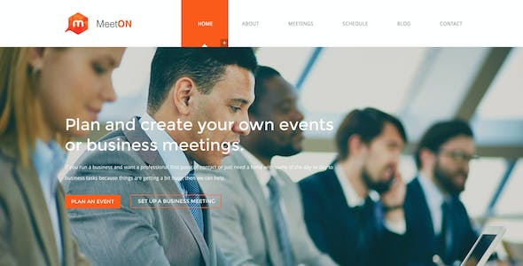 Meeton - Conference & Event PSD Template