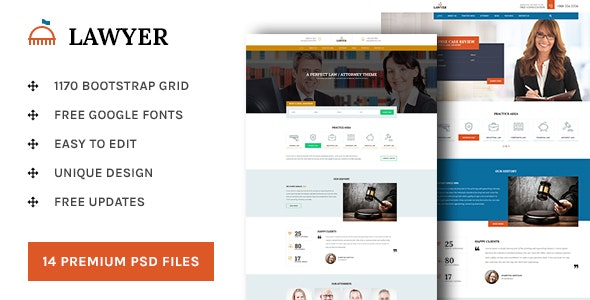 Lawyer - PSD Template - Business Corporate