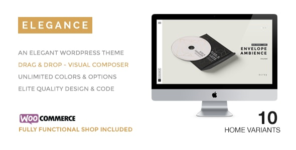 ELEGANCE - A Creative WordPress Theme with Shop - Portfolio Creative