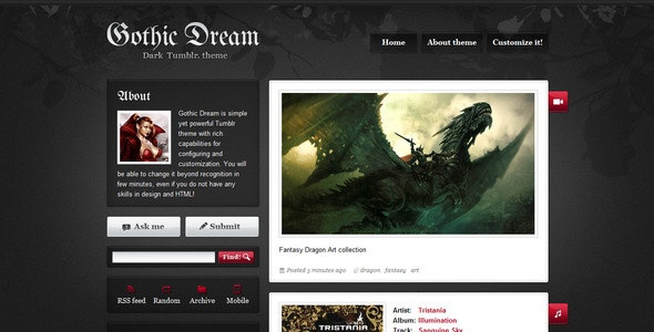 GothicDream - Blog Tumblr