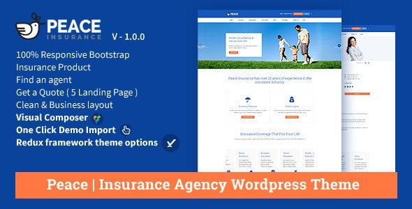 Peace – Insurance Agency WordPress Theme - Miscellaneous WordPress