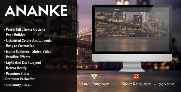 Ananke - One Page Parallax WordPress Theme - Portfolio Creative