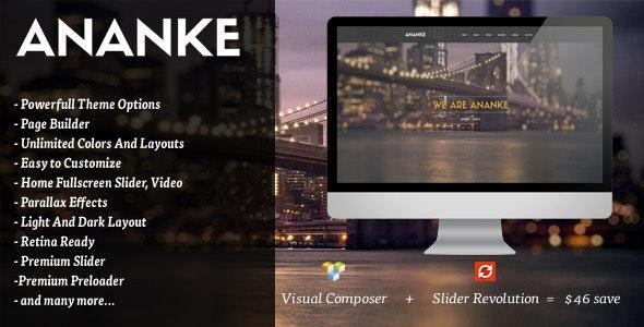 Ananke - One Page Parallax WordPress Theme - Portfolio Creative