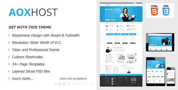 AOX HOST - A Professional Hosting Theme + WHMCS