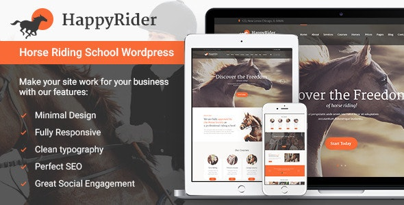 Happy Rider - Horse Riding School WordPress Theme