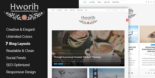 Hworih - A Clean & Responsive WordPress Blog Theme - Personal Blog / Magazine