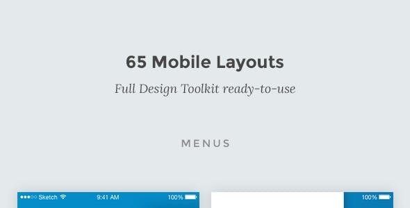 Bolder - Multipurpose Mobile UI KIT for Sketch