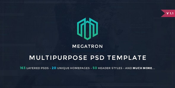 Megatron - Multipurpose PSD Template - Photoshop UI Templates