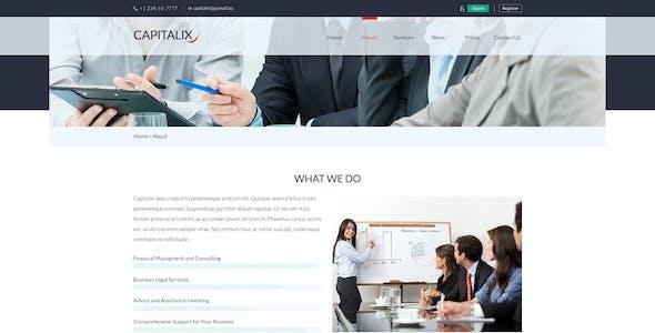 Capitalix — Business Multipurpose PSD Template