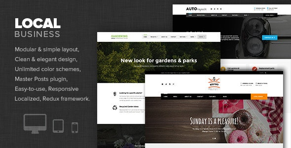 Local Business - WP Theme for Small Businesses - Business Corporate